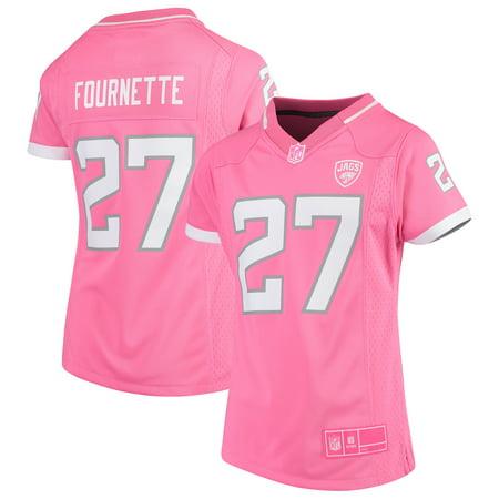 Leonard Fournette Jacksonville Jaguars Girls Youth Fashion Bubble Gum Jersey - Pink