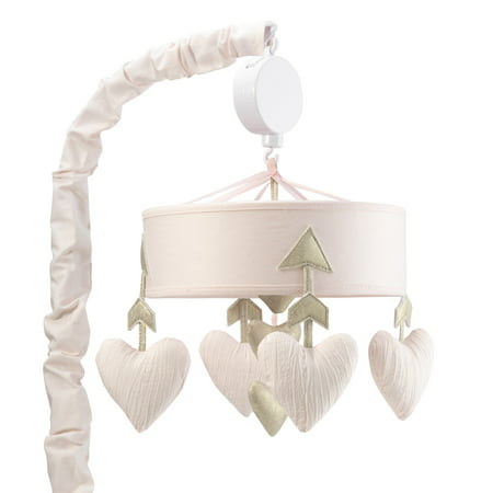 Arrow Mobile (Lambs & Ivy Baby Love Pink/Gold Hearts and Arrows Musical Baby Crib Mobile )
