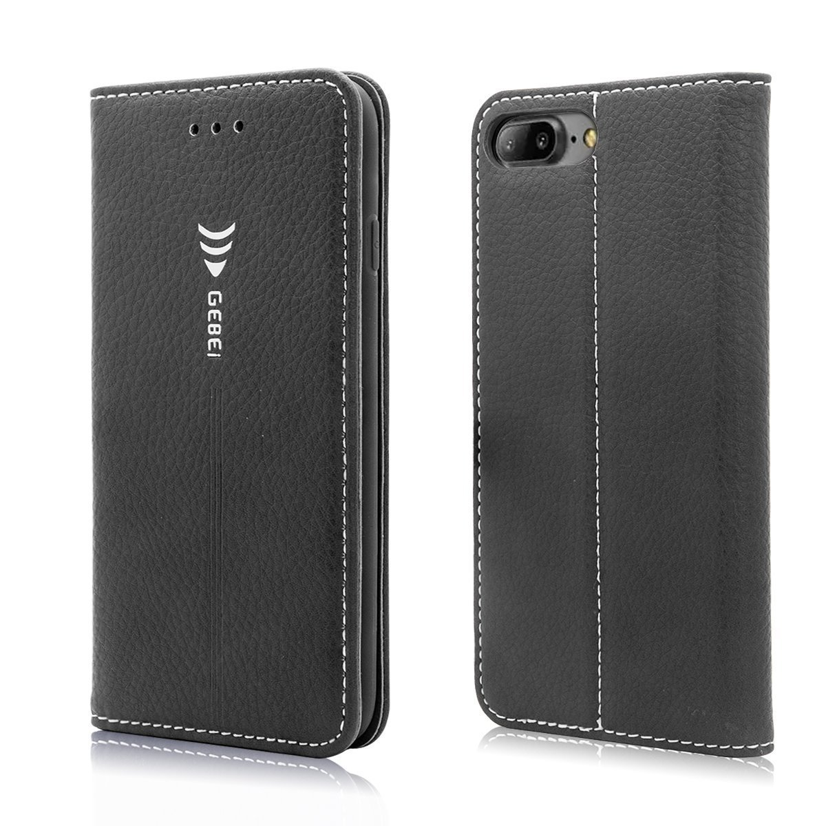 iPhone 7 Plus iPhone 8 Plus Case, Mignova Leather Case [Wallet] Flip Book Cover Design with Kickstand Function and ID Credit Card Slot, Magnetic Closure for iPhone 7 Plus iPhone 8 Plus (Black)