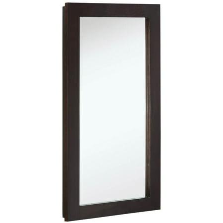 """Design House 541326 Ventura 1-Door Medicine Cabinet Mirror 16"""", Espresso"""
