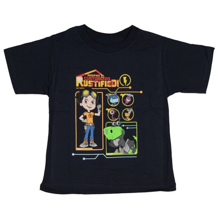 Rusty Rivets Little Boys' Modified Customized Rustified Graphic T-Shirt