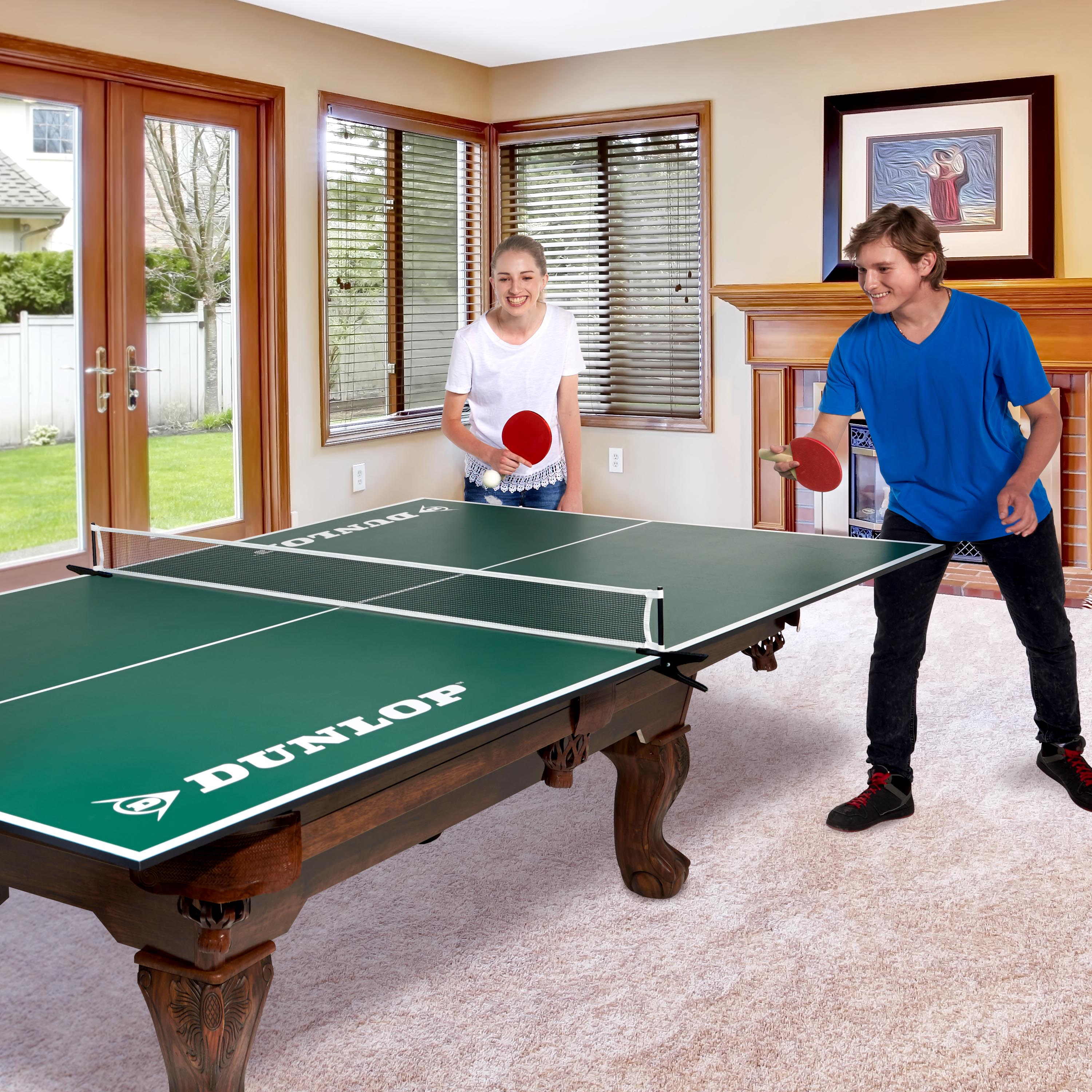 Dunlop Official Size Table Tennis Conversion Top With Premium Clamp Style  Net And Post ...