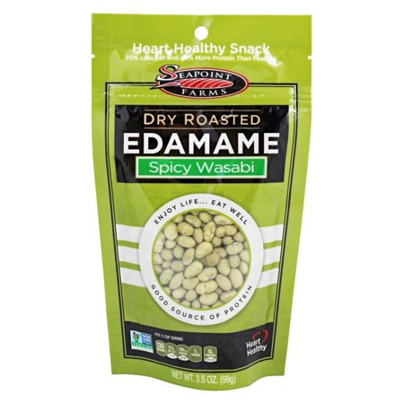 SeaPoint Farms - Edamame Dry Roasted Spicy Wasabi - 3.5 oz(pack of 4) (Spicy Edamame Recipe)