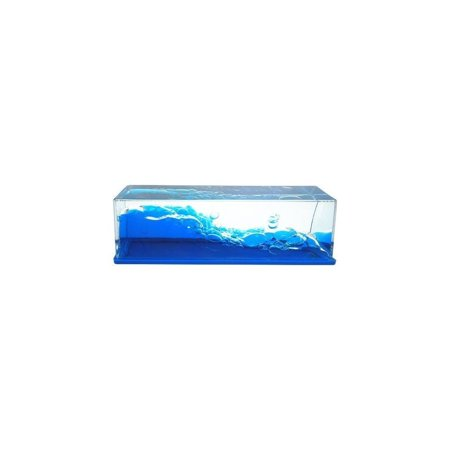 Amber Paperweight - Wave Motion Liquid Paperweight (Wave)
