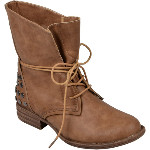 Brinley Co. Women's Lace-up Round Toe Boots