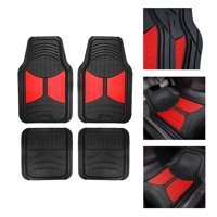 FH Group Heavy Duty Rubber Trim to Fit Monster Eye Floor Mats-4 Pieces, Red