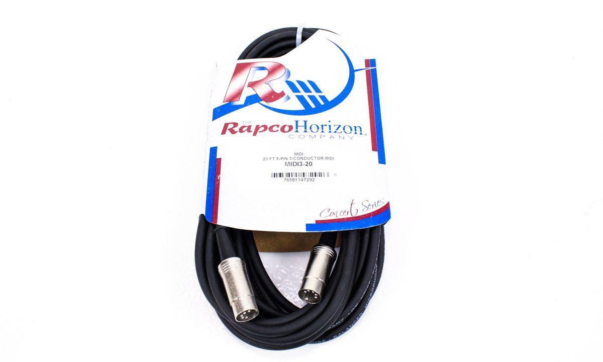 Rapco Horizon 20-Foot MIDI Cable 20' MIDI3-20 by