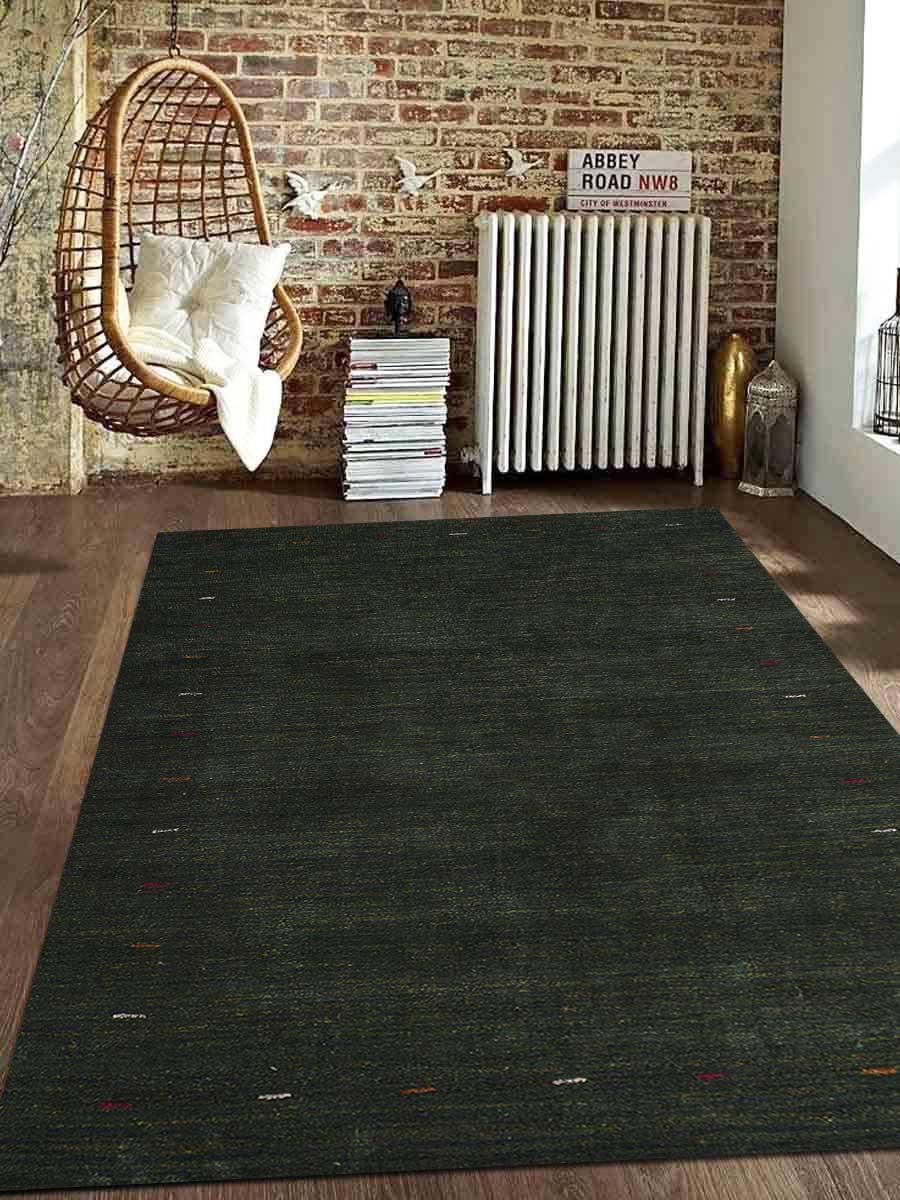 Rugsotic Carpets Usls0102l00y13a15 8 X 10 Ft Hand Knotted Gabbeh Silk Solid Area Rug Dark Green Walmart Com Walmart Com