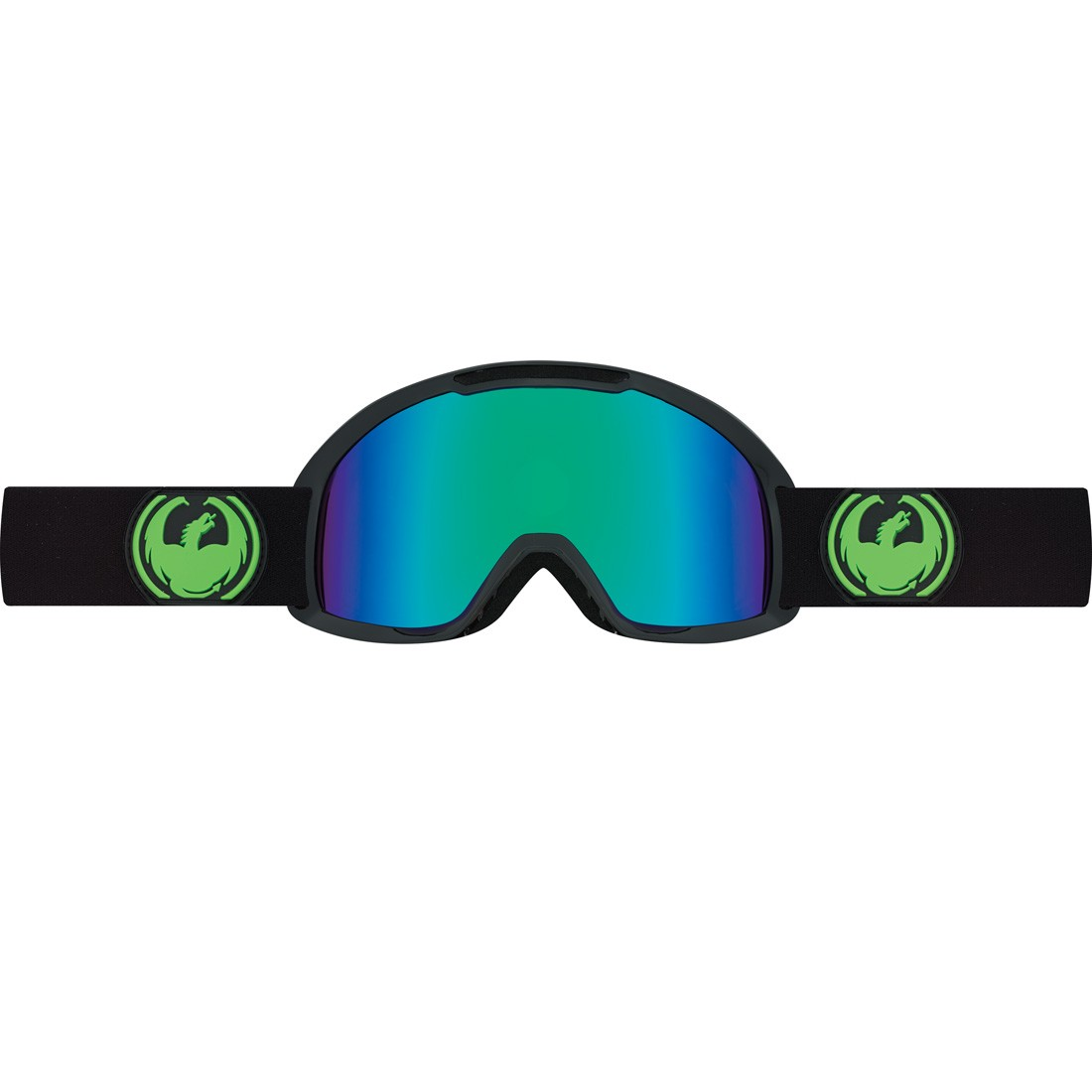 Dragon Alliance DX2 Snow Goggles-Jet; Green Ion & Yellow Blue Ion by Dragon