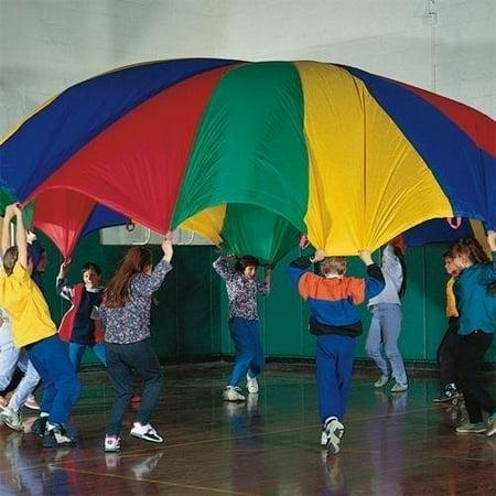 Dazzling Toys 10 Feet Parachute Multi-color Design and 8 Handles Parachute 24 Diameter 20 Handles