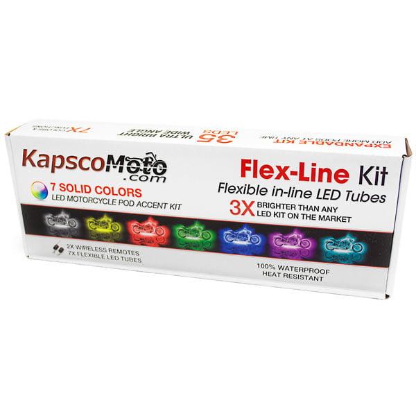 KapscoMoto Motorcycle 7 Color LED Light Kit Flex-Line Kit For Harley Davidson Road Glide Custom Ultra