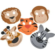 Set of 12 New Halloween Costume Party Foam Zoo Animal Masks