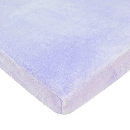 American Baby Company Heavenly Soft Chenille Fitted Cradle Sheet, Lavender Heavenly Soft Cradle Sheet