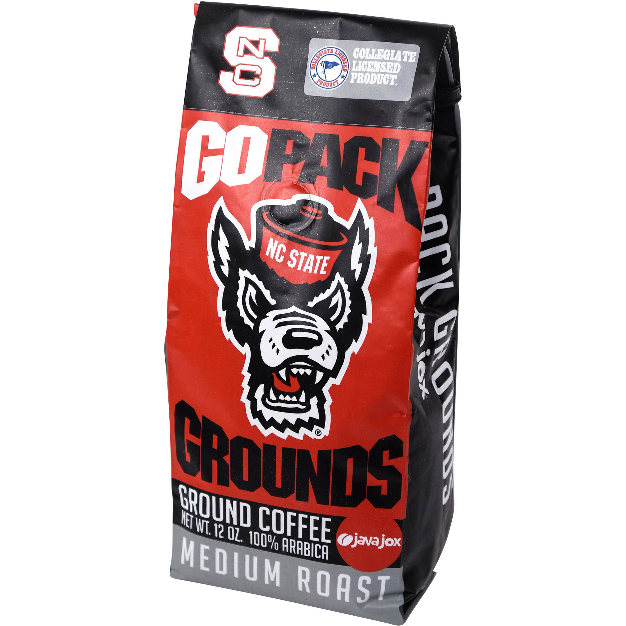 Java Jox NC State Go Pack Grounds Ground Coffee, 12 oz