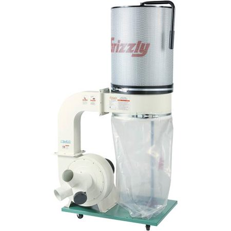 Grizzly Industrial G0548zp 2 Hp Canister Dust Collector With Aluminum Impeller Polar Bear Series