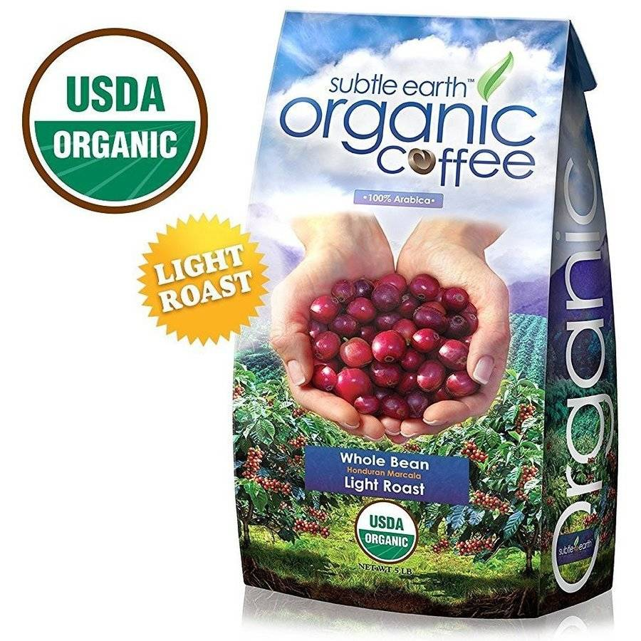 5LB Cafe Don Pablo Subtle Earth Organic Gourmet Coffee Light Roast Whole Bean Coffee USDA... by Burke Brands LLC