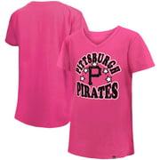 Pittsburgh Pirates New Era Girl's Youth Jersey Stars V-Neck T-Shirt - Pink