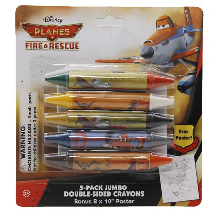 Disney Planes Fire & Rescue Jumbo Double-Sided Crayon Set + BONUS Giant Poster (Giant Crayon Bank)