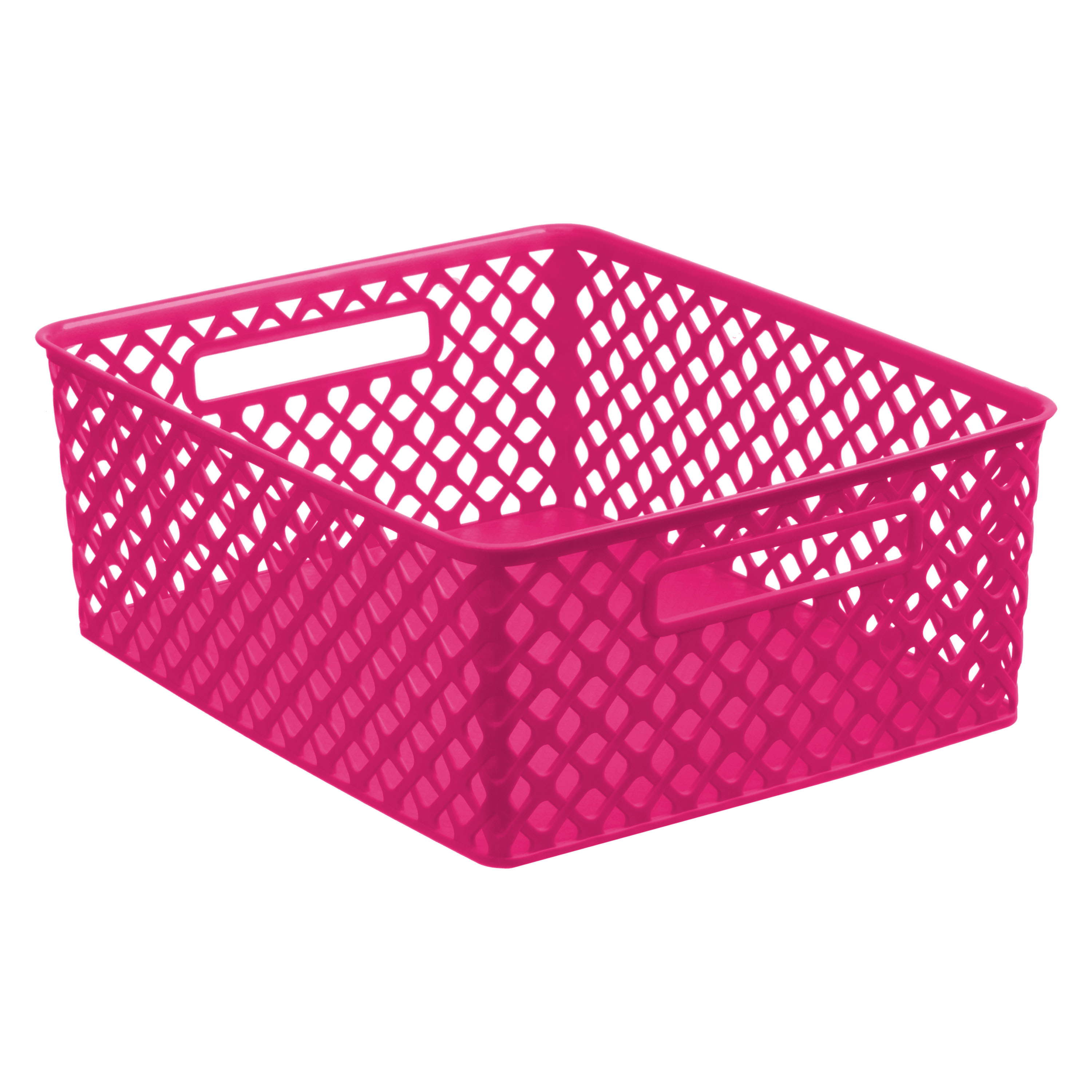 Mainstays Medium Deco Basket - Pink