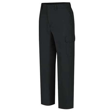 WRANGLER WP80BK4034 Work Pants, Black, Cotton/Polyester