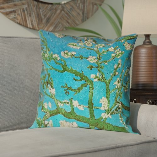 Bloomsbury Market Lei Almond Blossom Suede Pillow Cover