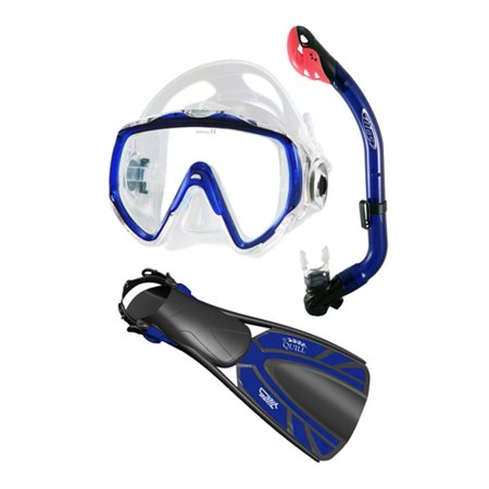 Tilos Titanica Jr. Mask S.O.S. Whistle Jr. Snorkel and Quill Jr Fins (Medium / Large, Yellow)