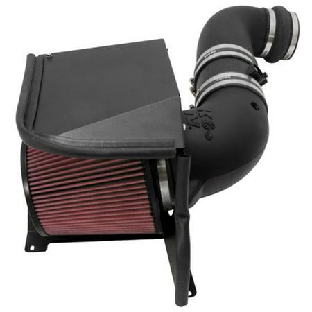 K&N Performance Air Intake Kit 57-3077 with Lifetime Red Oiled Filter for 2011-2014 Chevrolet Silverado 2500 HD/3500 HD, GMC Sierra 6.6L Duramax V8 Diesel ()