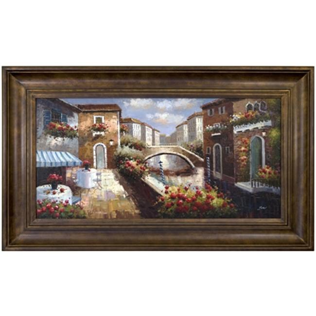 Artmasters Collection PA89029-300102 Venetian Walkway III Framed Oil Painting