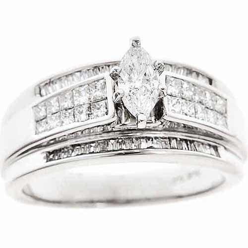1-Carat T.W. Round White Diamond 10-Carat Yellow Gold Engagement Ring, Size 7