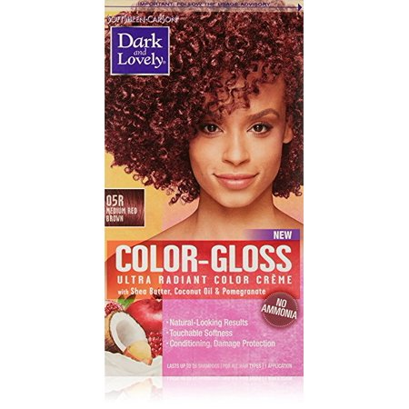 Dark And Lovely Color Gloss Ultra Radiant Color Creme Medium Red Brown 1 0 Ea Pack Of 4 Walmart Com