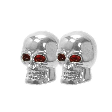 Stem Valve Caps, Skull Decorative Tire Valve Caps For Car - Set Of 4 ()