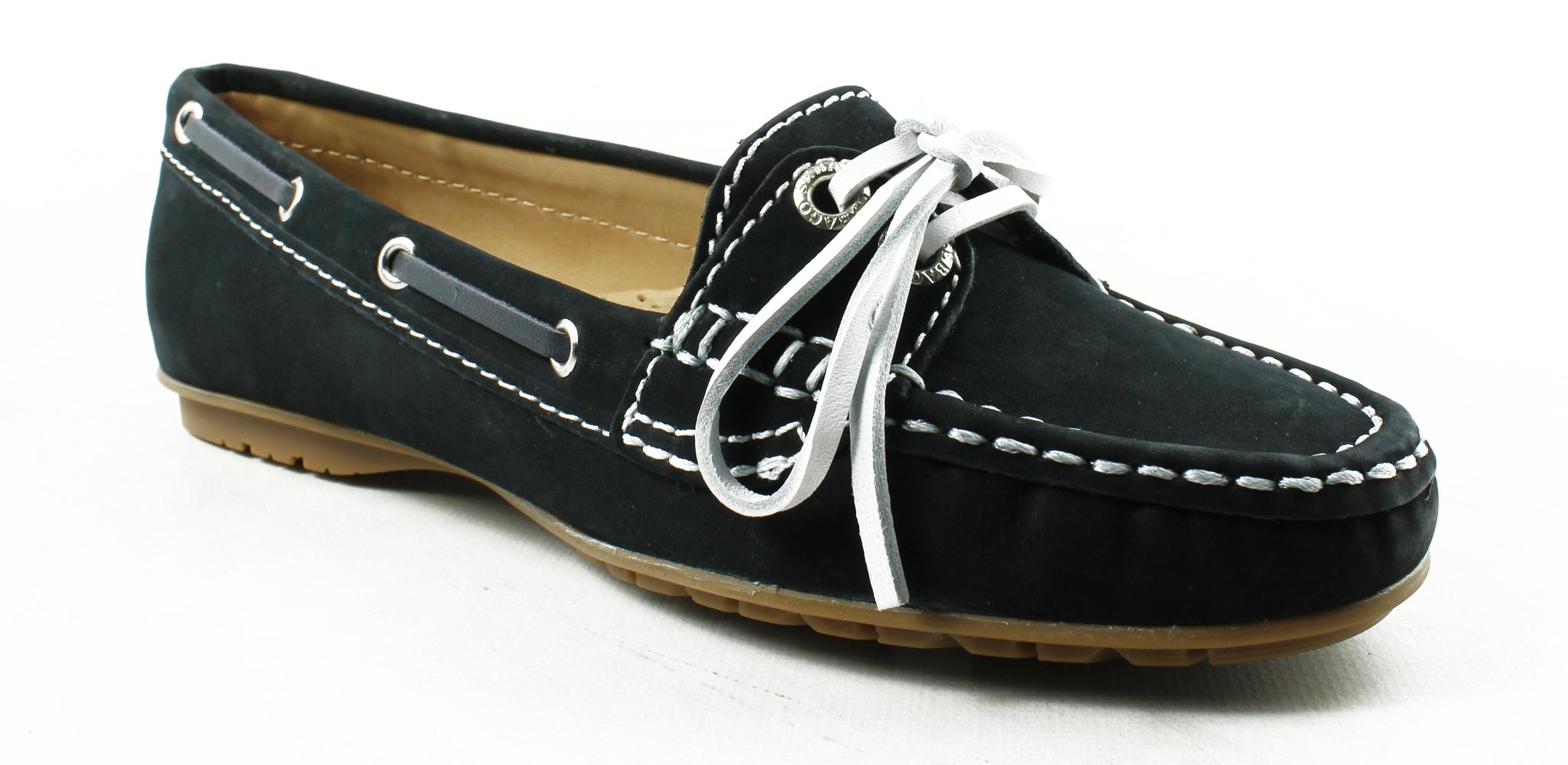 New Sebago Womens B409117-410 NavyNubuck Boat Shoes Size 5.5 by Sebago