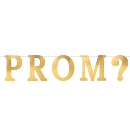 Gold Foil Prom ? Cutout Banner