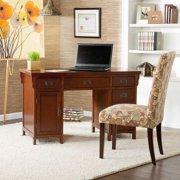 Landon Computer Desk-Brown Mahogany