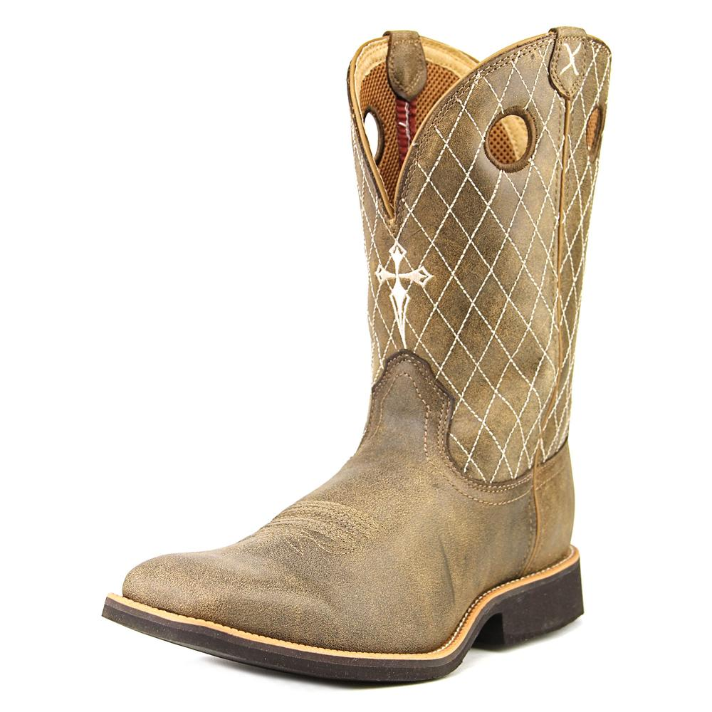 twisted x western boots mens square toe calf roper bomber