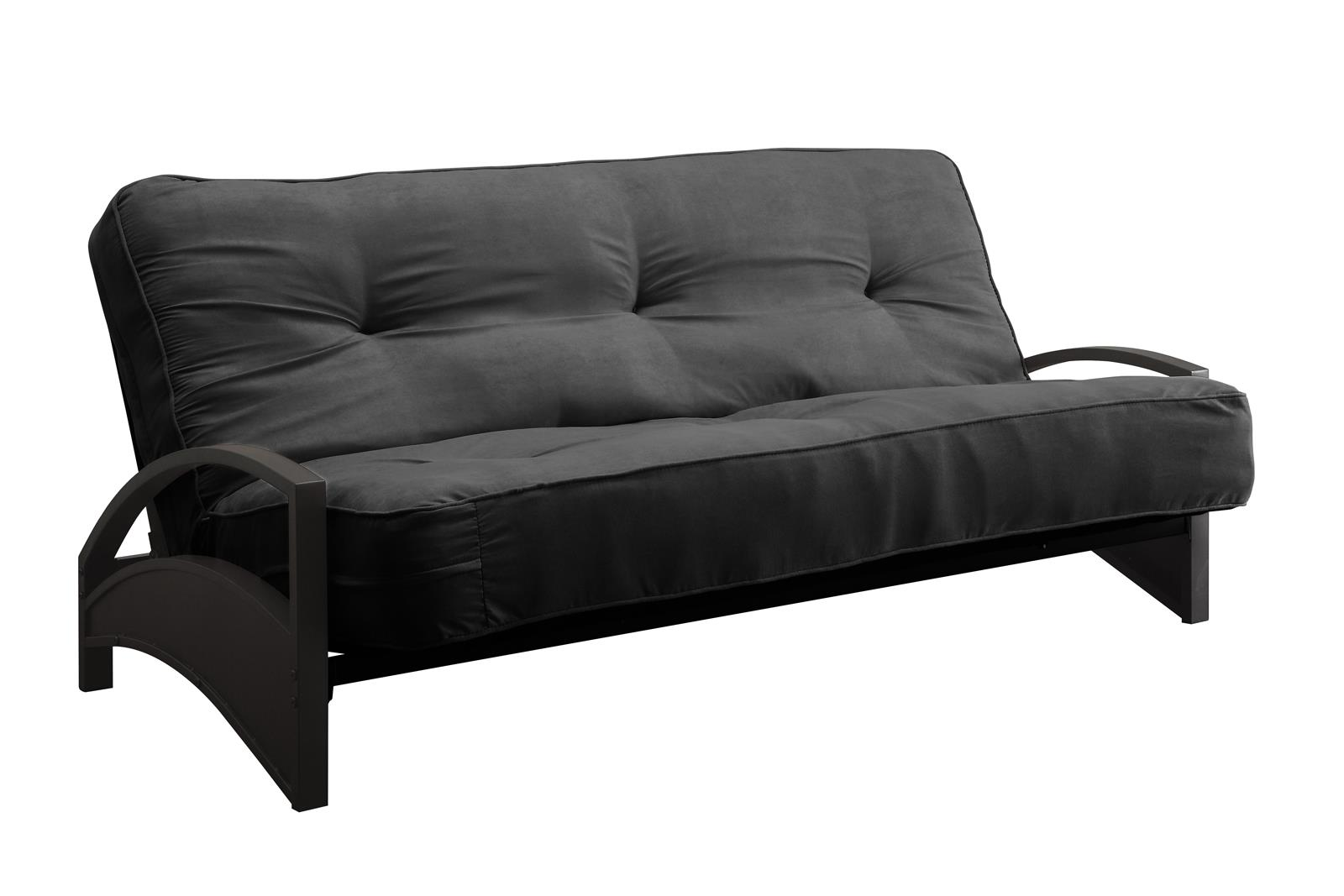 Dhp Alessa Black Metal Futon Frame W Coil Full Mattress Multiple Colorultiple Thicknesses Com