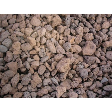 Crushed Lava Rock Granules 5 lbs bag For Decorative Gas Log Fireplaces ()