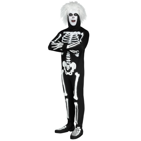 SNL Beat Boy Skeleton Adult Costume - Skeleton Boy Costume