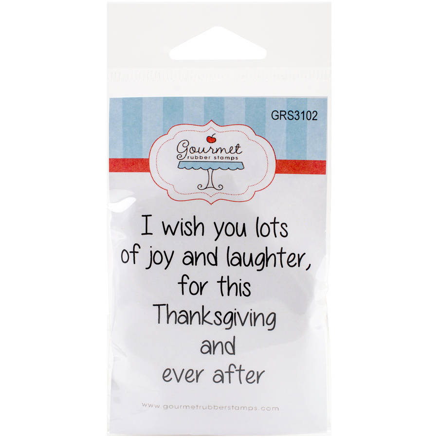 "Gourmet Rubber Stamps Cling Stamps, 2.75"" x 4.75"", I Wish You Lots of Joy and Laughter"