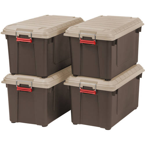 IRIS 82 Quart WEATHERTIGHT Store-It-All Tote, 4 Pack