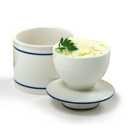 Norpro White Porcelain Butter Crock Keeper