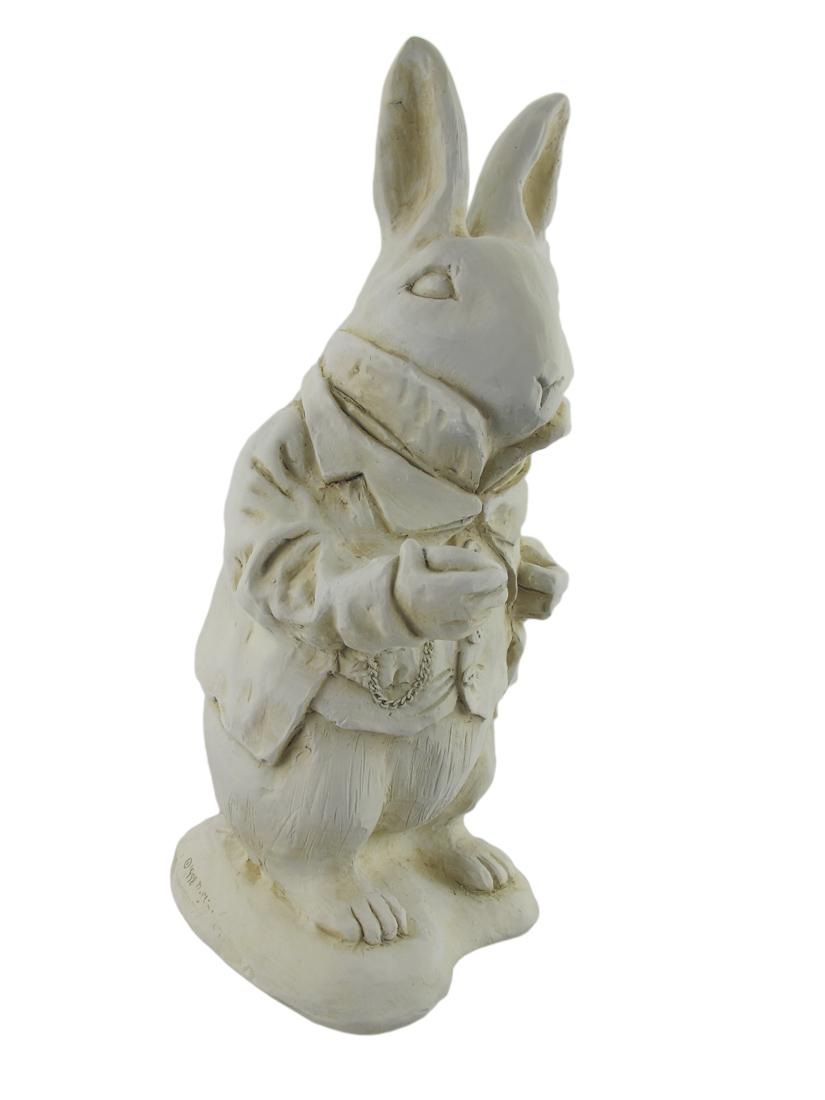Alice in Wonderland White Rabbit Garden Statue Museum White by House Parts, Inc.