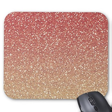 POPCreation Coral Pink And Gold Mouse pads Gaming Mouse Pad 9.84x7.87 inches ()