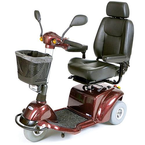 Drive Medical Burgundy Pilot 3-Wheel Power Scooter