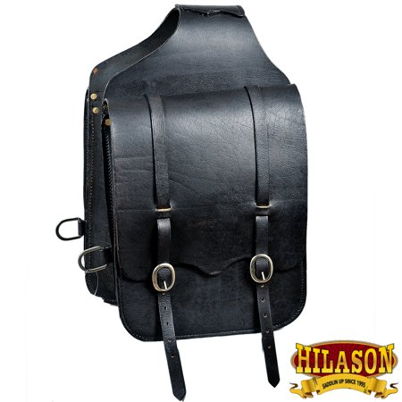 Tucker Trail Saddles - Hilason Western Horse Saddle Bag Heavy Duty Leather Cowboy Trail Ride