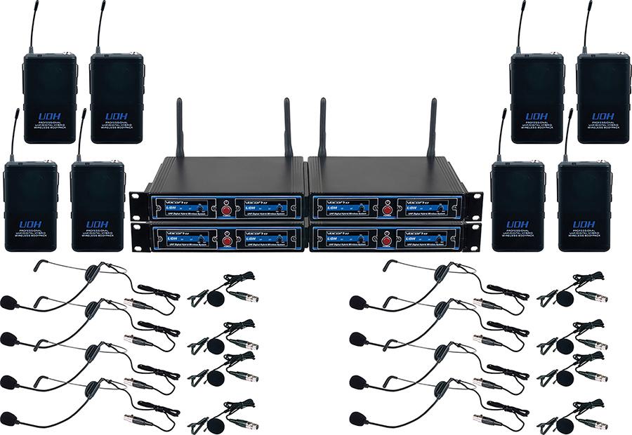 8- UHF DSP WIRELESS MIC 8- UHF DSP WIRELESS MIC by VocoPro