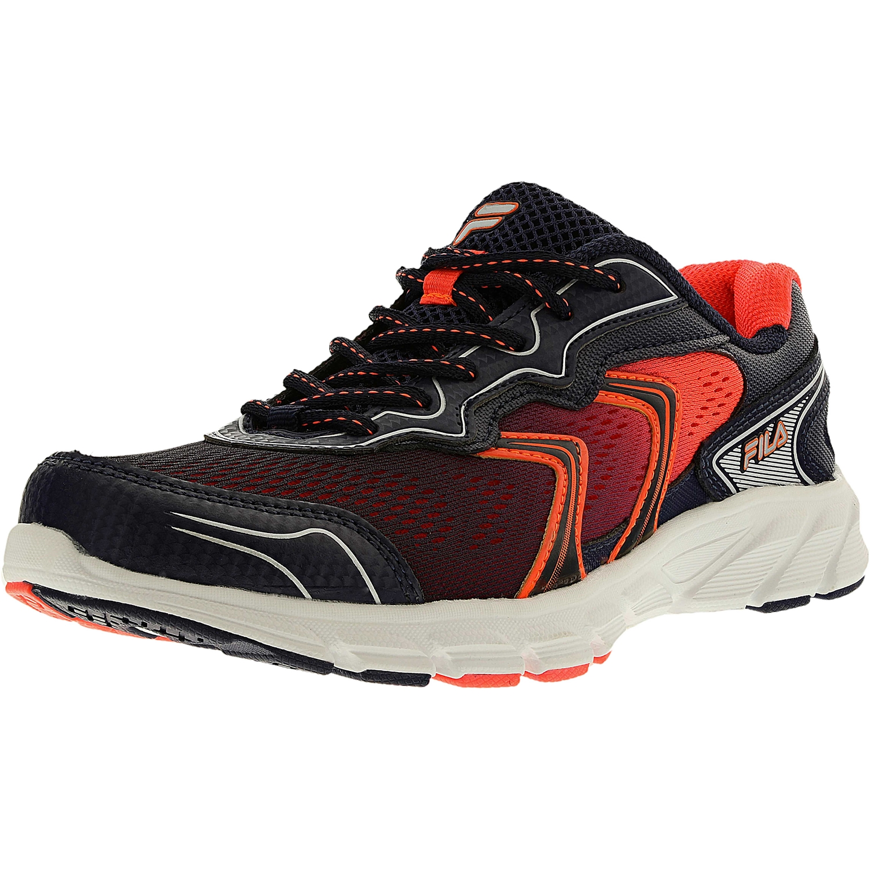 Fila Women's Stellaray Navy Fiery Coral White Ankle-High Running Shoe 7.5M by Fila