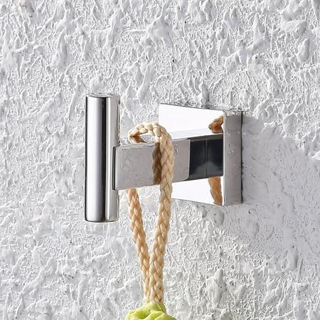 KES Bathroom Square Single Robe Hook Stainless Steel Wall Mounted Poli