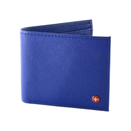 - Mens Leather Bifold Wallet Coin Pocket Purse Pouch Alpine Swiss 2 Bill Sections