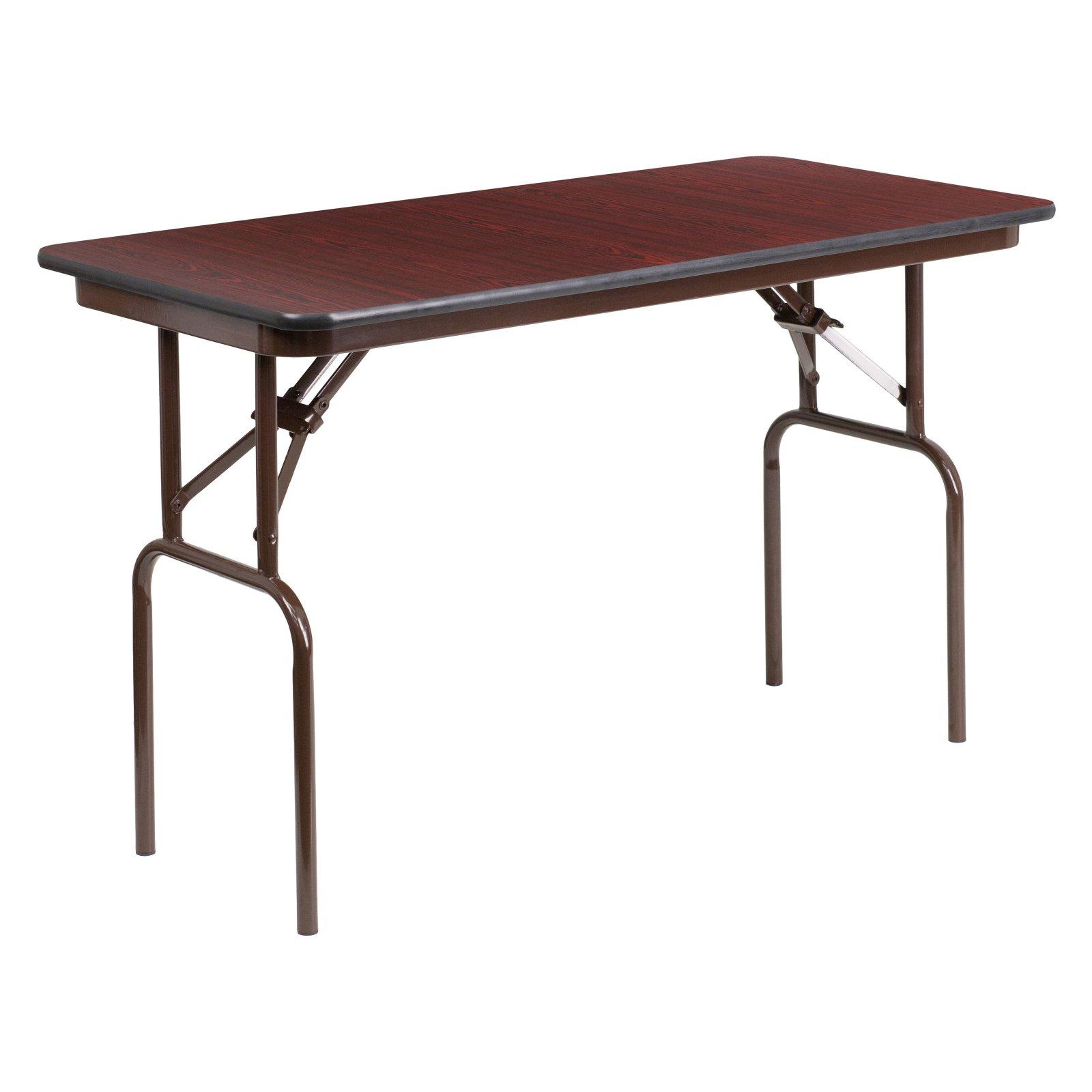 Standard Height Adjustable Legs 24 W x 48 D x 21.125-30.125 H 24 W x 48 L Rectangular Oak Thermal Laminate Activity Table